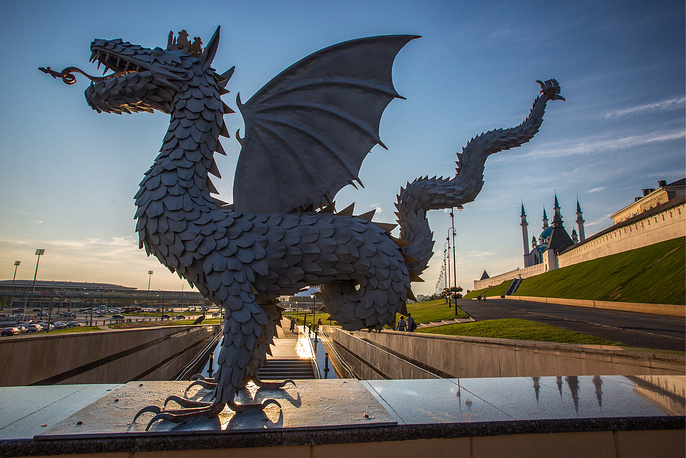 Zilant dragon, the official symbol of Kazan