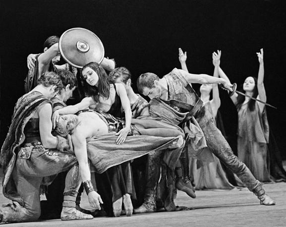 Aram Khachaturian's ballet Spartacus staged by choreographer Yuri Grigorovich, 1968