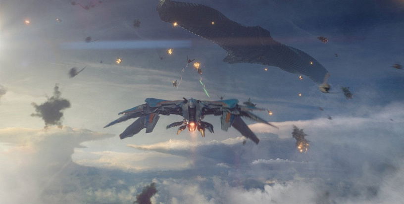 Spacecrafts from 'Guardians of the galaxy'