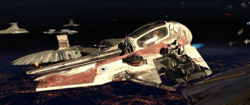 "Spaceships of rebels from 'Star Wars: Episode III'"""