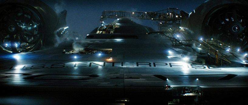The Enterprise starship from 'Star Trek'