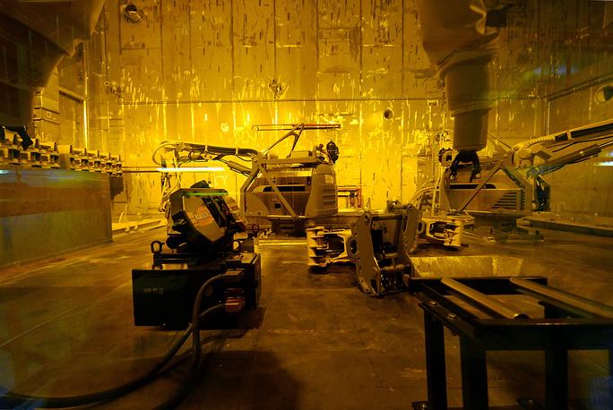 A radioactive waste disposal facility at the Chernobyl power station
