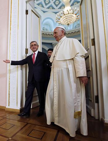 Pope Francis and Serzh Sargsyan