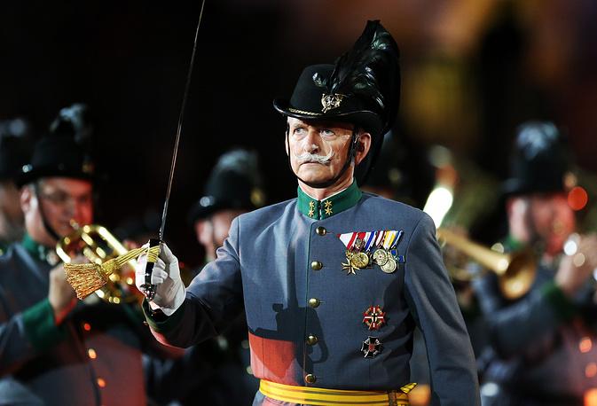 Memeber of the Original Tiroler Kaiserjagermusik Band of Austria
