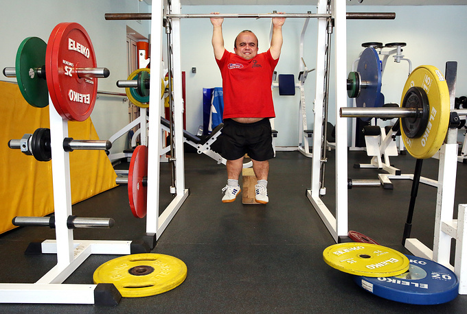 Member of the Russian Paralympic team in powerlifting Ildar Bederdinov