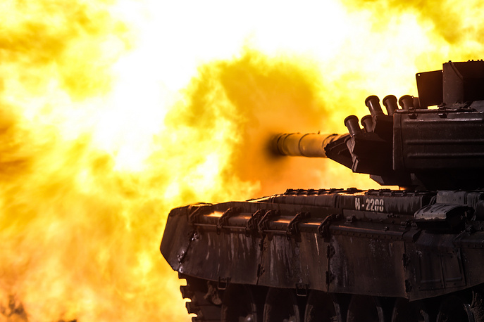 The T-72B3 battle tank at the Army-2016 forum, Russia, September 10