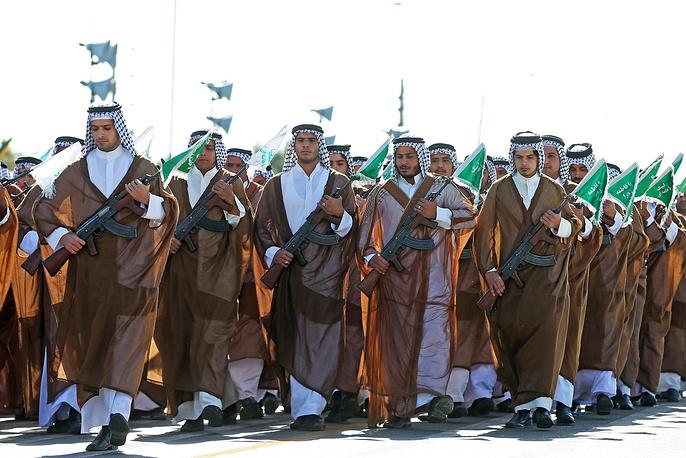 Iranian paramilitary Basij forces
