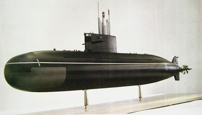 A model of the Lada project diesel submarine