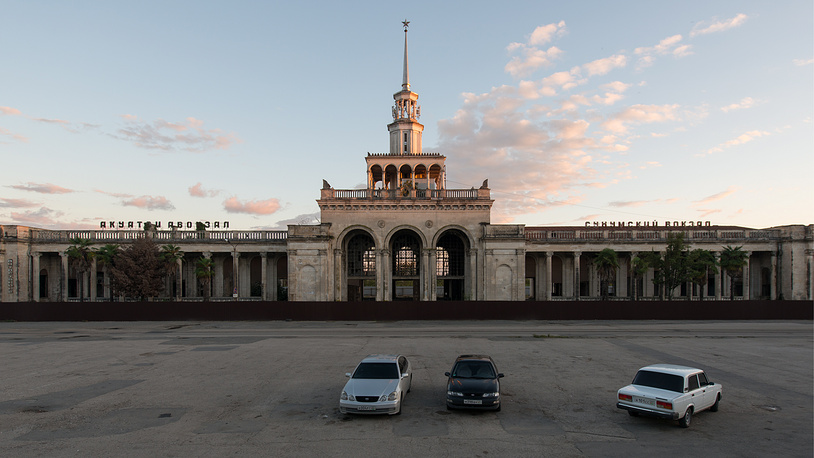A disused railway station in Sukhumi