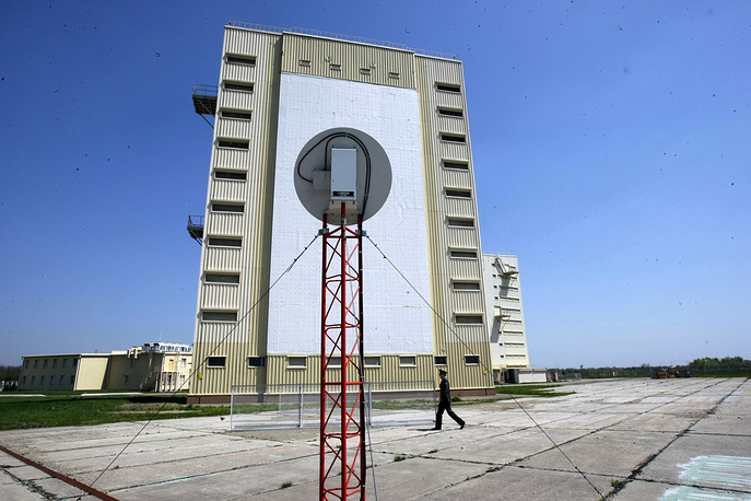 Voronezh-DM, long-range surveillance radar, designed to track ballistic missiles, in south Russia's Armavir