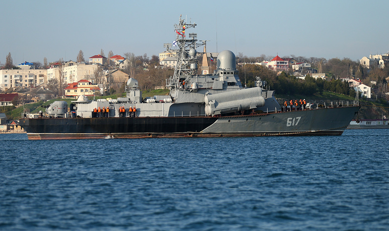 Small missile ship Mirage in Sevastopol harbour