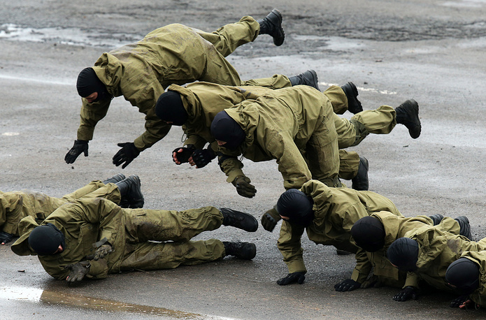 Memebers of the Russian Federal Penitentiary Service's Special Forces
