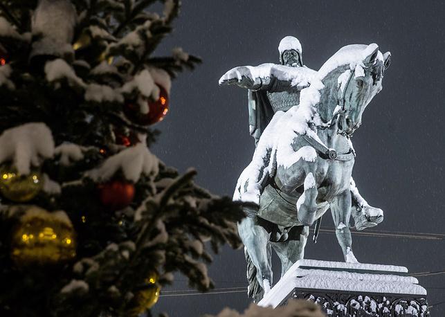 Yuri Dolgoruky monument in Moscow's Tverskaya Square