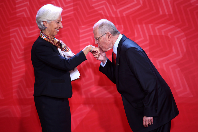 Director of the International Monetary Fund Christine Lagarde and Peruvian President Pedro Pablo Kuczynski