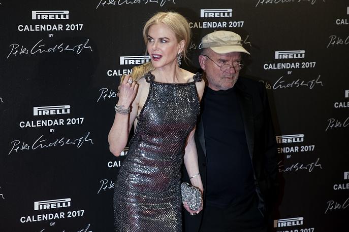 Actress Nicole Kidman and German photographer Peter Lindbergh