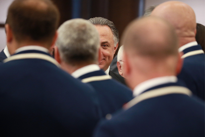 Russia's sports minister Vitaly Mutko at the opening ceremony of the All-Russian Paralympic Contest, Moscow, September 7