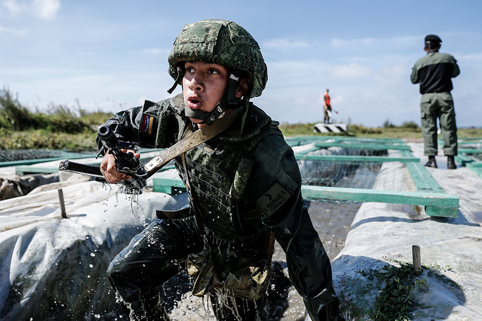 Seaborn Assault competition, part of the 2016 Army Games, Kaliningrad, August 3