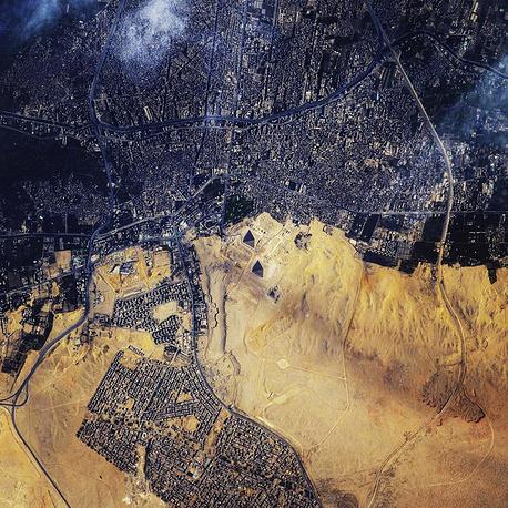 The Giza pyramid complex in Egypt