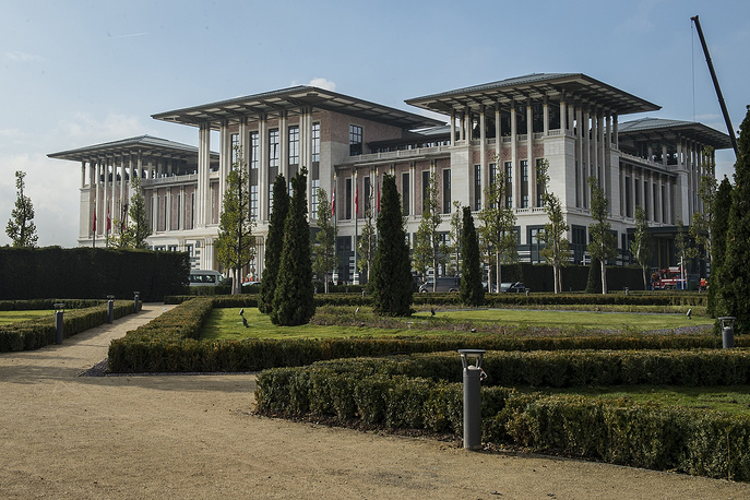 Turkish Presidential Palace in Ankara, located inside Ataturk Forest Farm