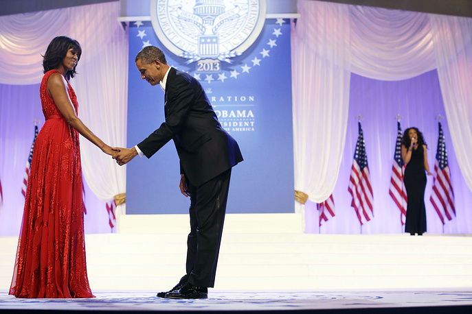 Michelle and Barack Obama at the Inaugural Ball, 2013