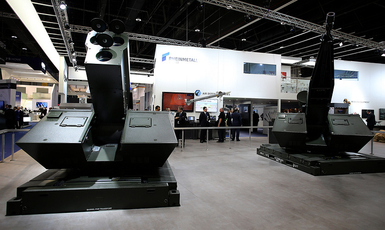 The booth of Rheinmetall