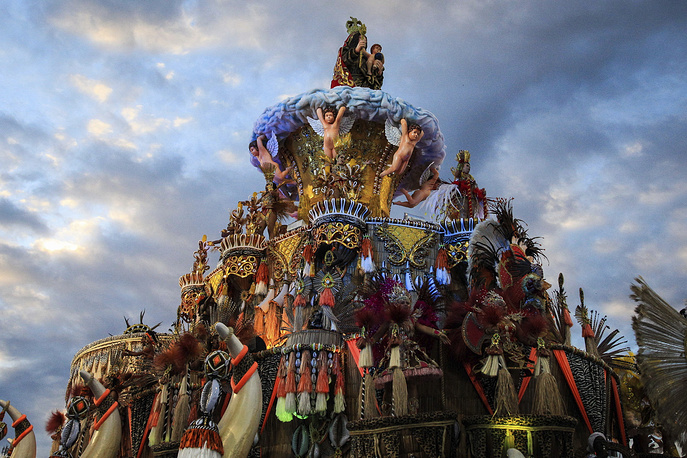 Carnival celebrations in Sao Paulo