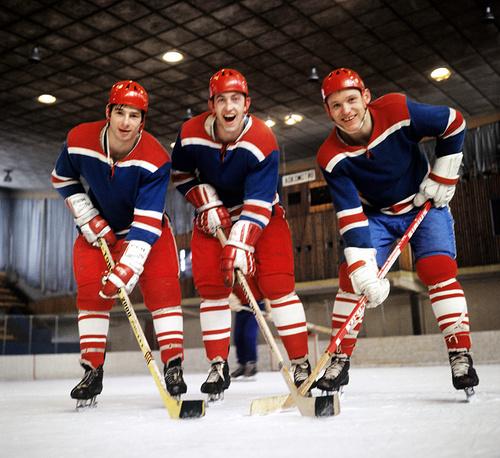 USSR national ice hockey team and HC CSKA forwards Valery Kharlamov, Boris Mikhailov and Vladimir Petrov