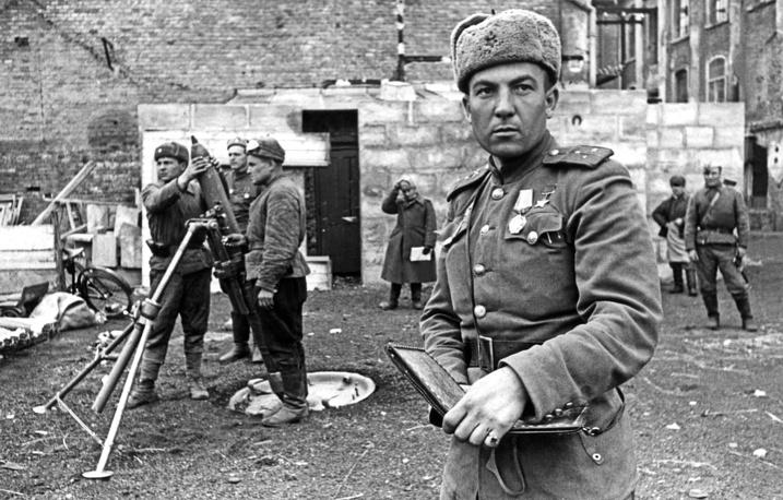 Red Army's Senior Sergeant Sergey Postevoi, 1945