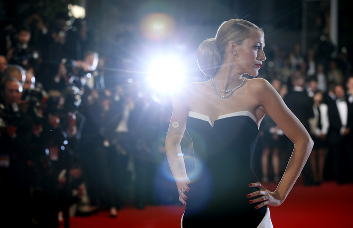 Actress Blake Lively at the 67th international film festival, Cannes, 2014