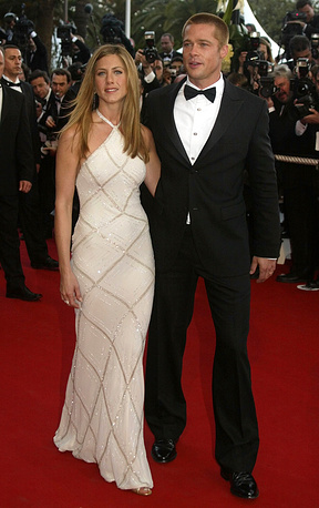 Brad Pitt and Jennifer Aniston at the 57th Film Festival in Cannes, 2004