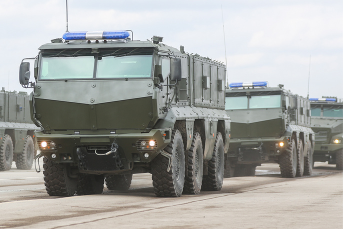 KamAZ Typhoon multi-functional, armoured, mine resistant MRAP vehicles