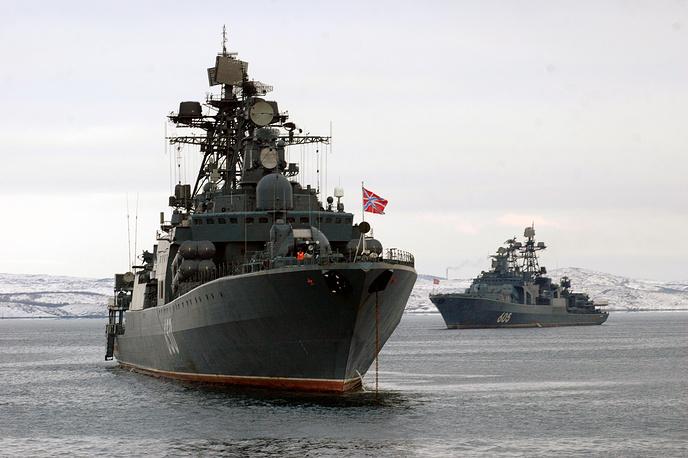 Udaloy сlass anti-submarine destroyers Admiral Chabanenko and Admiral Levchenko