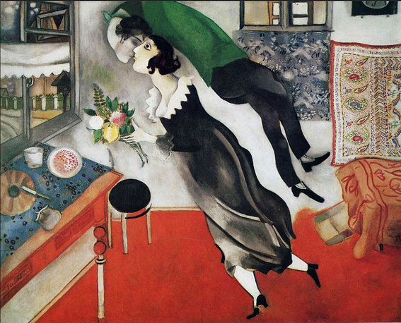 """Mark Chagall """"L'Anniversaire"""" (1923) was sold for $14,9 million in 1990"""
