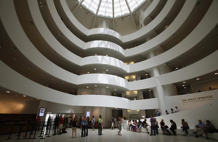 The interior of the Solomon R. Guggenheim Museum in New York