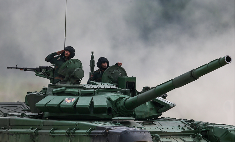 Laos' T-72B3 tank