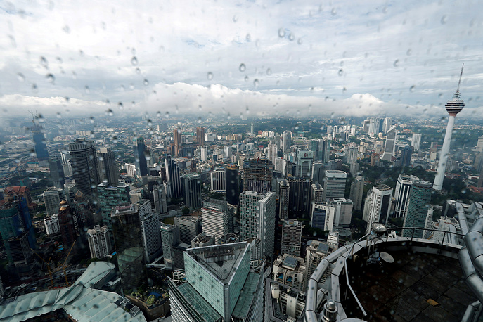A view of the Kuala Lumpur city skyline in Malaysia, August 15