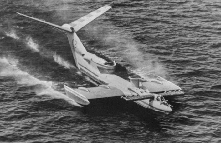 SM-6 experimental single-pilot ground effect vehicle, developed at the design bureau of Rostislav Alexeyev