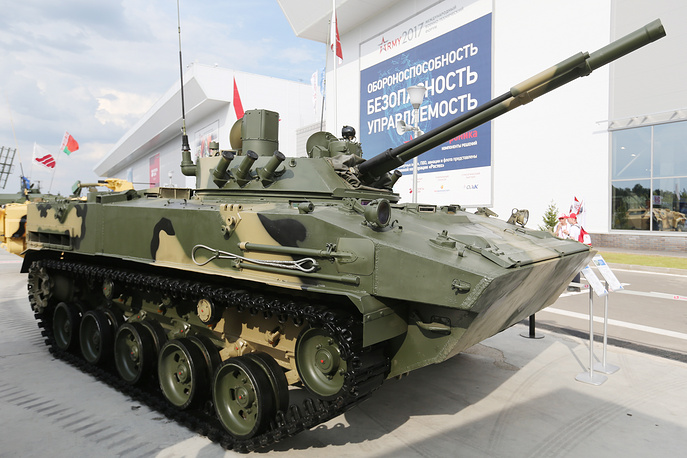 BMD-4M amphibious infantry fighting vehicle with a Sinitsa combat module