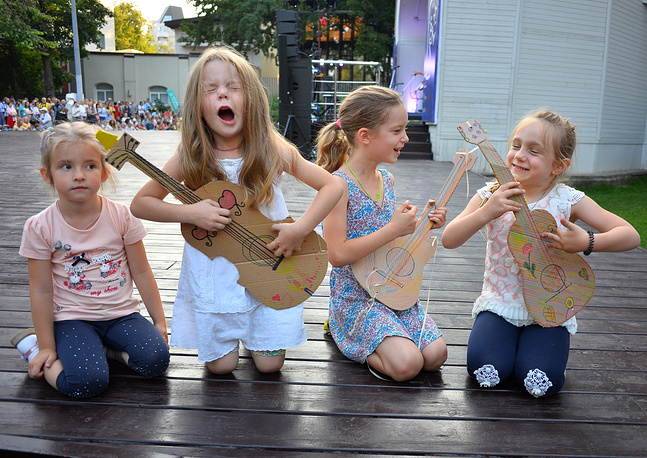Children attend the 2017 Jazz in Hermitage Garden International Music Festival, Moscow, Russia, August 19