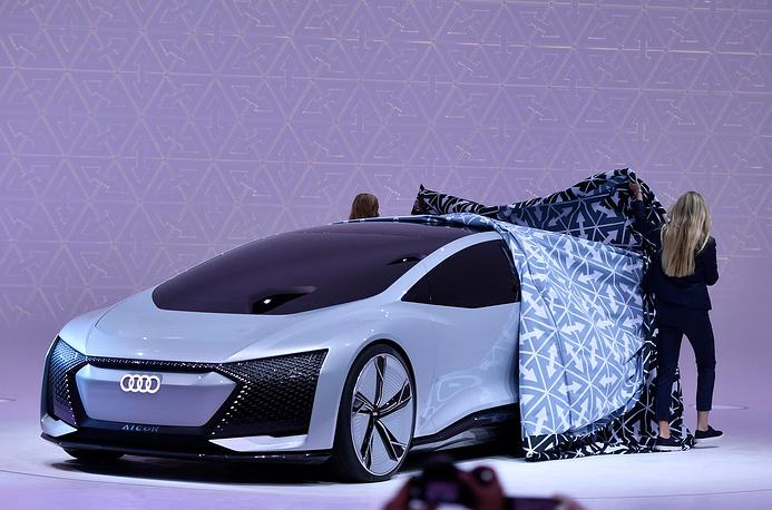 An Audi Aicon concept car