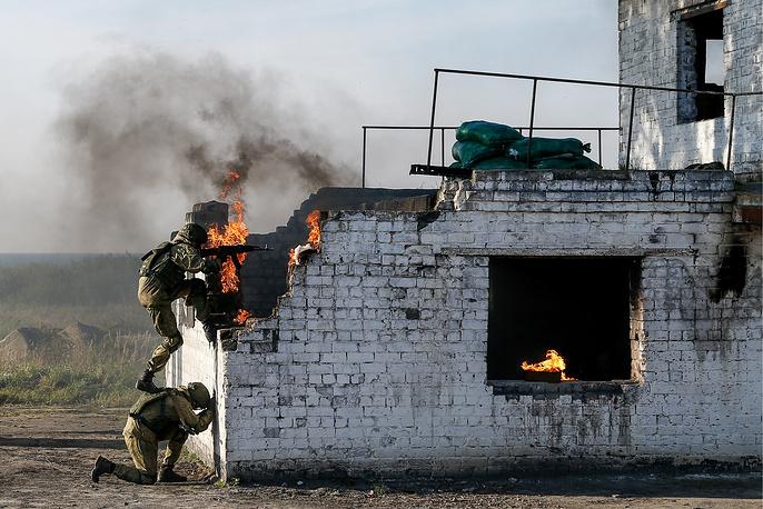 Anti-terror drills at Khmelevka range in Kaliningrad region