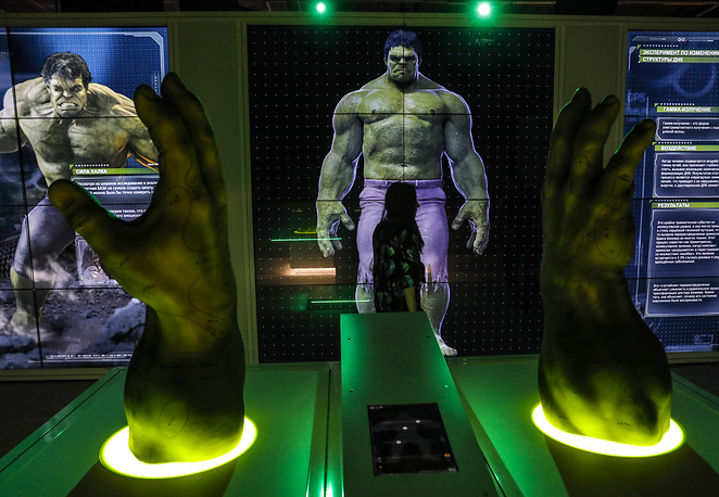 A display of superhero comic character Hulk