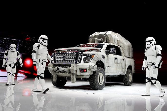 "The ""Star Wars""-themed Nissan Titan custom truck is introduced during the Los Angeles Auto Show, USA, November 30"