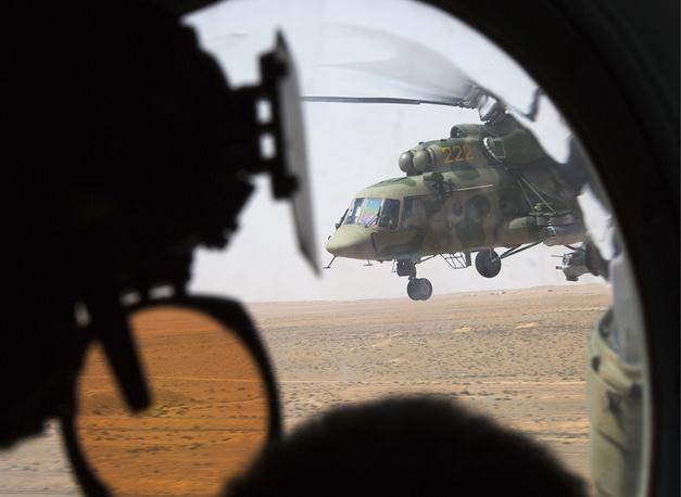 Russian multipurpose helicopter Mi-8 in Palmyra, April 10, 2016
