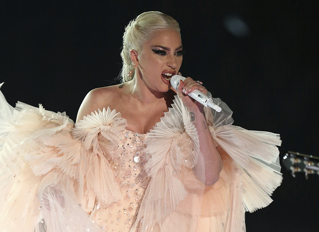 Lady Gaga performs onstage at the 60th annual Grammy Awards