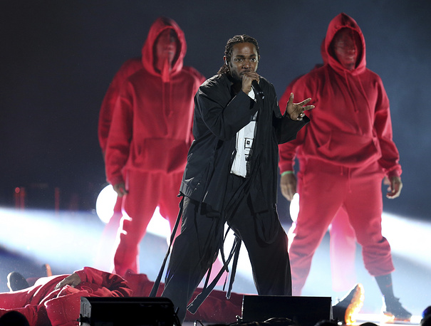 Kendrick Lamar at the 60th annual Grammy Awards