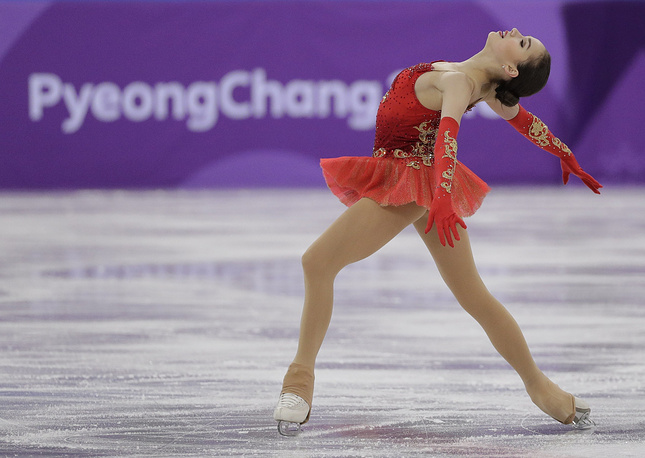 Russian figure skater Alina Zagitova finished first in ladies' free program of the team event