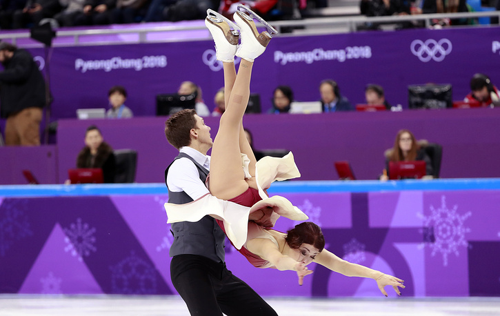 Ice dancers Ekaterina Bobrova and Dmitri Soloviev
