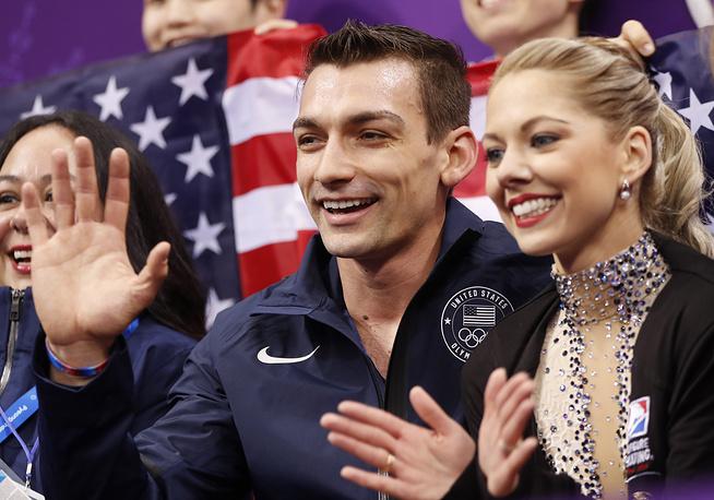 American pair skaters Alexa Scimeca Knierim and Chris Knierim