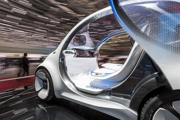 Smart vision EQ at the 88th Geneva International Motor Show in Geneva